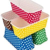 Paper Loaf Pans for Baking, 25 Loaf Pan Liners, 7x3x2 Mini Pie Pans, Brown Tart Pan Color by PETANI