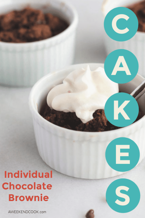 Individual Chocolate Brownie Cakes