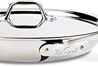 All-Clad 41126 Stainless Steel Fry Pan with Lid, Dishwasher Safe , Tri-Ply Bonded, 12 Inch Pan, Silver