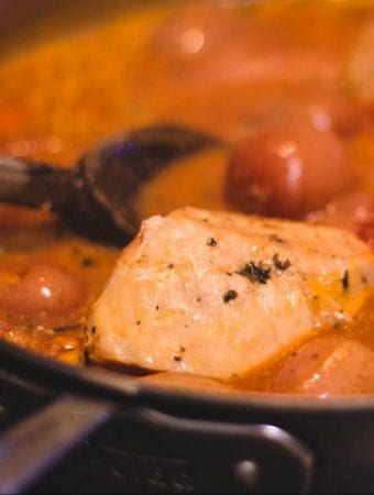 French Inspired Chicken Stew In a Skiller