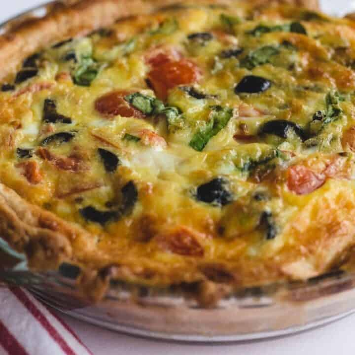 Gruyere and Olive Quiche