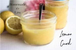 small mason jars filled with homemade lemon curd