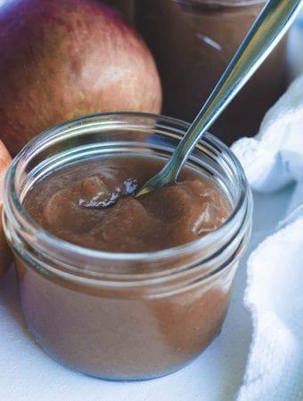jar of homemade apple butter