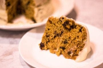Slice of homemade carrot cake