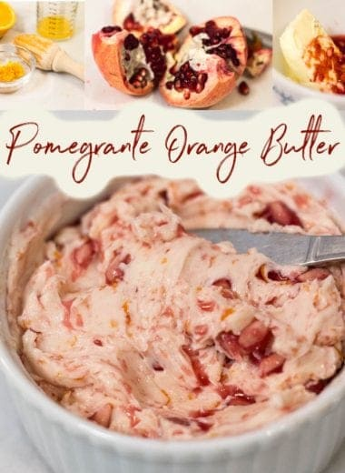 ramekin with pomegranate orange butter