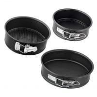 "Zenker Z9393 Pure Mini Springform Pan Set, 4.75"", 5.5"", 7"", Black"