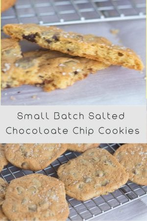 Crispy csalted chocolate chip cookies