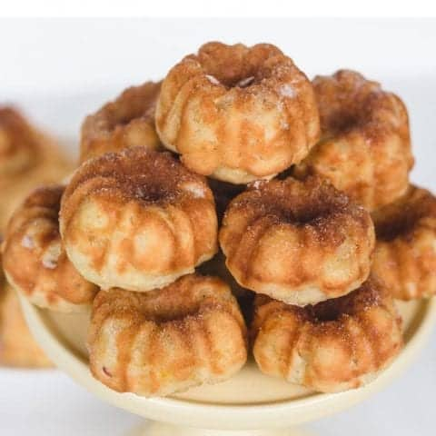 Apple Cinnamon Mini Bundt Cakes