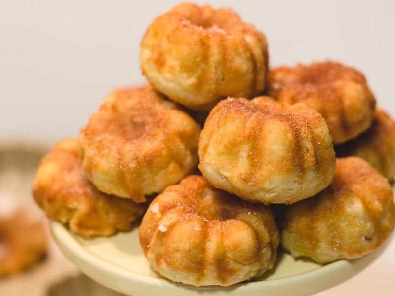 plate of apple cinnamon mini bundt cakes