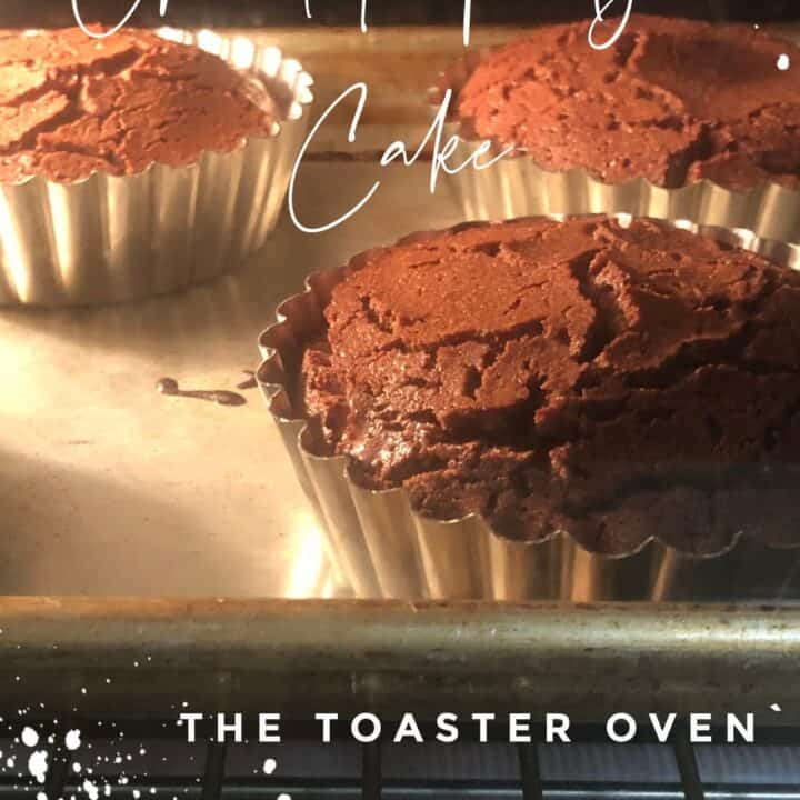 Fudge Cake in the toaster oven