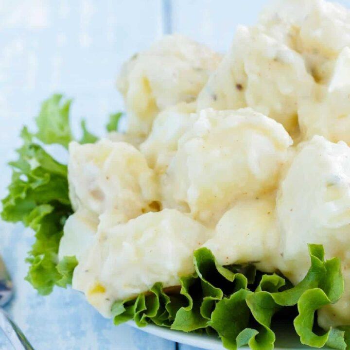 plate of potato salad